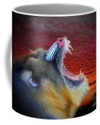 Mandrill Roaring At The End Of A Day  Coffee Mug