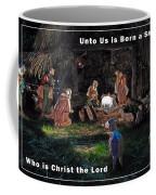 Manger Christmas Card Coffee Mug