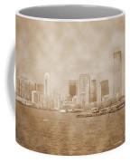Manhattan And Liberty Island Vintage Coffee Mug