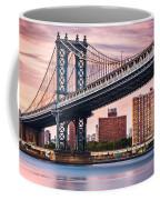 Manhattan Bridge Under A Purple Sunset Coffee Mug