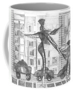 Manhattan Mother Hailing Cab With Daughter Coffee Mug