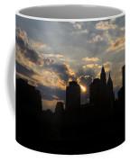 Manhattan Skyline At Sunset Coffee Mug