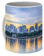 Manhattan Skyline From Central Park Reservoir Nyc Usa Coffee Mug