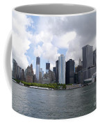Manhattan Skyline From The Hudson River Coffee Mug