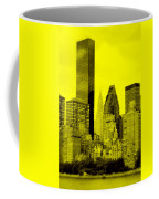 Manhattan Skyline In Yellow Coffee Mug