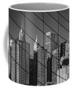 Manhattan Through The Brooklyn Bridge Coffee Mug