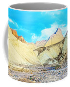 Manly Beacon From Golden Canyon In Death Valley National Park-california Coffee Mug