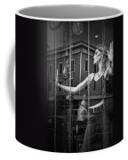 Mannequin In Storefront Shop Window In Black And White Coffee Mug