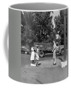 Mannequin Talks Traffic Safety Coffee Mug