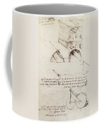 Manuscript B F 36 R Architectural Studies Development And Sections Of Buildings In City With Raise Coffee Mug