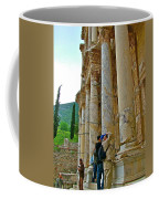 Many Photographers At Library Of Celsus-ephesus Coffee Mug