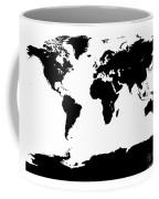 Map In Black And White Coffee Mug