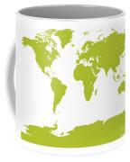 Map In Chartreuse Green Coffee Mug