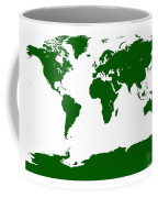 Map In Forest Green Coffee Mug