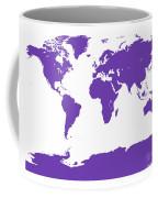 Map In Purple Coffee Mug