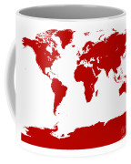 Map In Red Coffee Mug