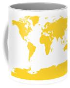Map In Yellow Coffee Mug