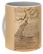 Map Of Alexandria 1798 Coffee Mug