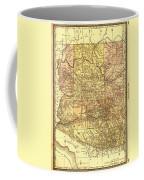 Map Of Arizona 1883 Coffee Mug