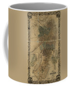 Map Of Boston 1852 Coffee Mug