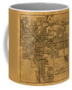 Map Of Denver Colorado City Street Railroad Schematic Cartography Circa 1903 On Worn Canvas Coffee Mug