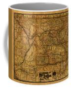 Map Of Denver Rio Grande Railroad System Including New Mexico Circa 1889 Coffee Mug