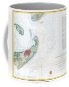 Map Of Galveston City And Harbor Texas Coffee Mug