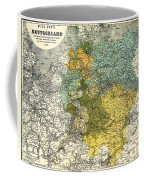 Map Of Germany 1861 Coffee Mug