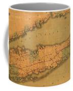 Map Of Long Island 1888 Coffee Mug