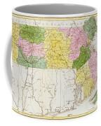 Map Of Massachusetts, From Historical Collections Of Massachusetts, By John Warren Barber, 1839 Coffee Mug