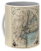 Map Of New York 1891 Coffee Mug