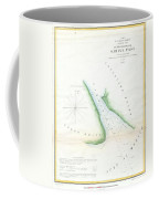 Map Of Sabine Pass  Texas  Louisiana Coffee Mug