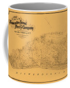 Map Of Sausalito 1868 Coffee Mug