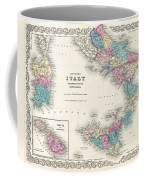 Map Of Southern Italy Sicily Sardinia And Malta Coffee Mug