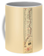 Map Of The Lone Star Route 1922 Coffee Mug