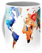 Map Of The World 8 -colorful Abstract Art Coffee Mug