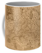 Map Of Virginia 1698 Coffee Mug