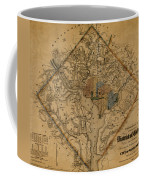 Map Of Washington 1862 Coffee Mug