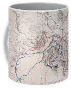 Map: Siege Of Atlanta 1864 Coffee Mug