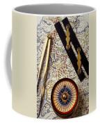 Map With Compass Tools Coffee Mug