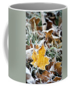Maple Frost Leaf Art Coffee Mug