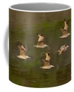 Marbled Godwit Flock Flying Coffee Mug