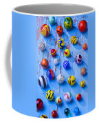 Marbles On Blue Board Coffee Mug