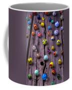 Marbles On Wood Coffee Mug