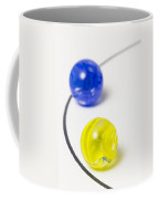 Marbles Yellow Blue Curve 1 Coffee Mug