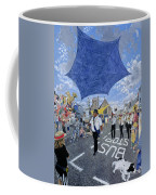 Marching Band, Brecon Jazz Festival, 1994 Oil On Board Coffee Mug
