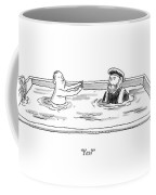 Marco Polo In A Pool With A Man Playing Marco Polo Coffee Mug