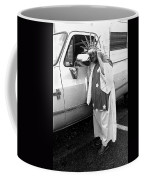 Marge Stukel Adjusting Crown Lady Liberty Parade Tucson Arizona  Coffee Mug