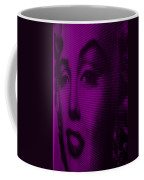 Marilyn And Mona Purple Coffee Mug