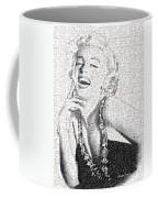 Marilyn Monroe In Mosaic Coffee Mug